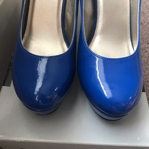 Mossimo Supply Co. Shoes - Royal Blue Patent Leather heels size 11